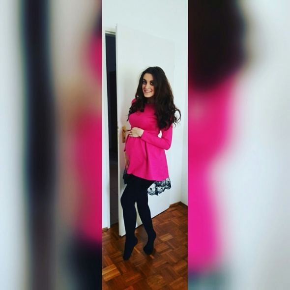 Eleganckie Piękna różowa sukienka