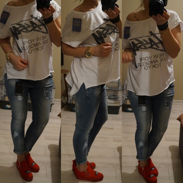 Codzienne Stylizacja 1 Bluzka oraz Jeansy