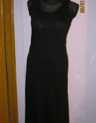 Czarna maxi sukienka S M