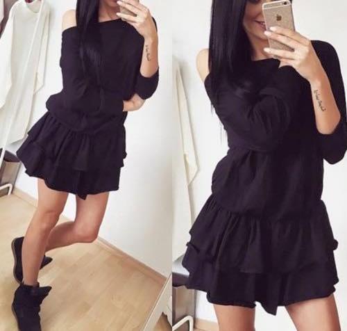Codzienne sukienka czarna