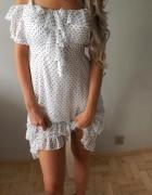 Hit nowa sukienka w groszki zwiewna tanio