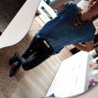 skóra jeans zamkni dzęty mój look 534