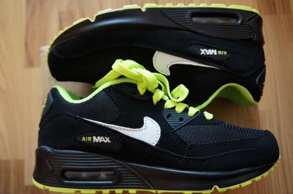 watch a40cb 9fa29 Sportowe Nike Air Max 90 r 41 czarne z zielonym z Polski