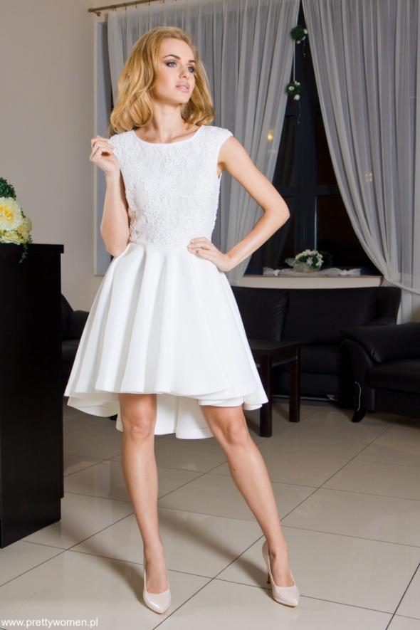 73e071a203294 pretty woman 34 suknia balowa ecru ślubna pianka w Suknie i sukienki ...