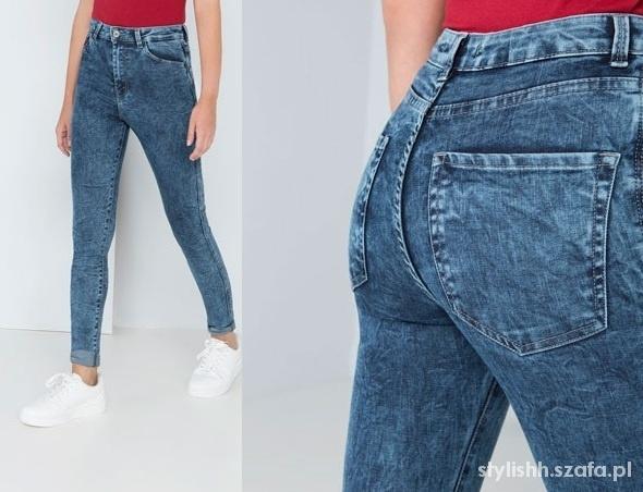 C&A Marmurki cudowne spodnie rurki wysokie S M