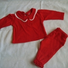 Ealry Day czerwony komplet bluzka legginsy roz 0 3