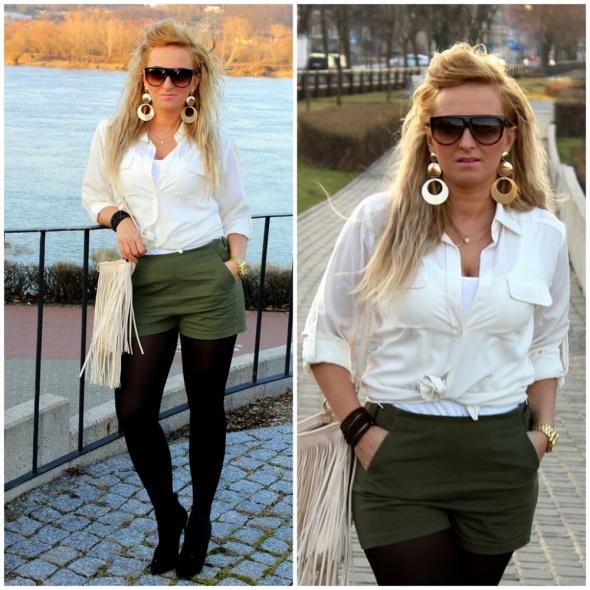 Blogerek Szorty khaki