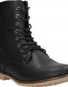 Workery botki czarne wiązane