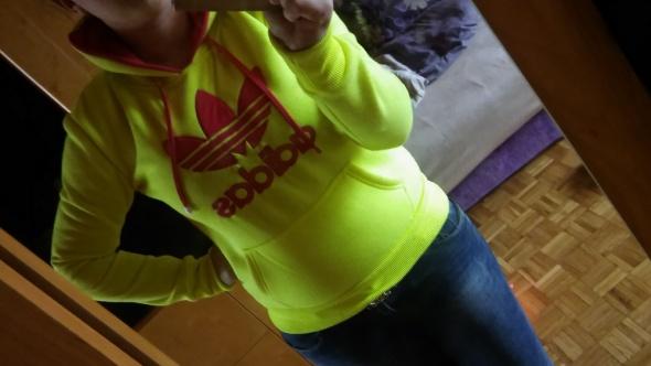 Bluzy Bluz ADIDAS Neonowa Żółta