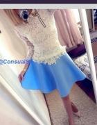 baby blue spodniczka...