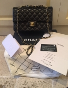 CHANEL CLASSIC FLAP BAG GOLD HDW medium...