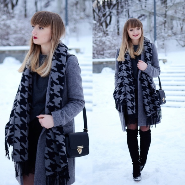 Blogerek Spódnica zimą