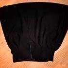 czarna spódnica tłoczona klosz