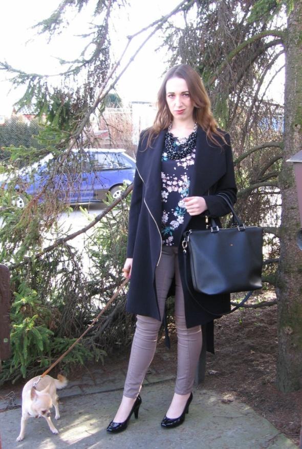 Eleganckie Szalowy płaszcz