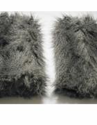 Puchate ocieplacze ozdobne modne na nogi