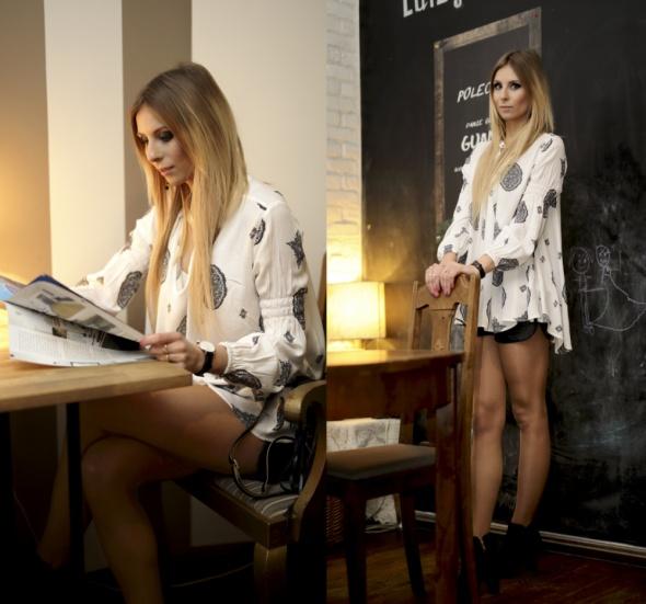 Blogerek Tribal print blouse