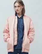 Pudrowy różowy bomber jacket Mango S