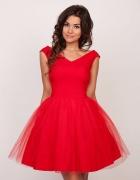 Sukienka tiulowa soczysto czerwona FANNY