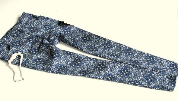 Ubrania cygaretki spodnie new look we wzory rozmiar 38