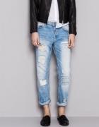 Spodnie boyfriend jeans PULL&BEAR S M