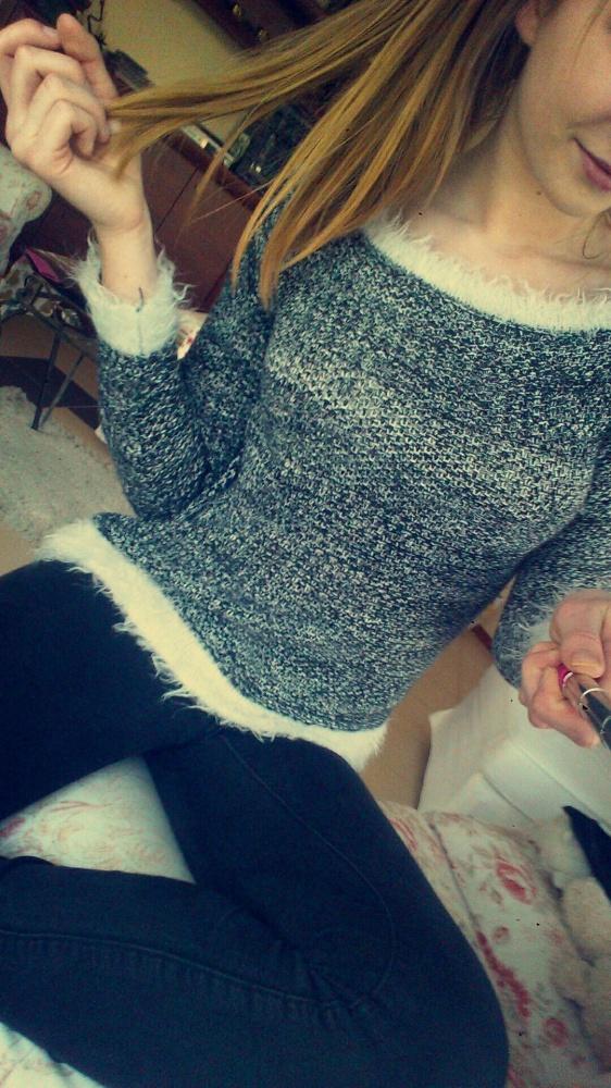 Codzienne Melanżowy swetr