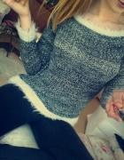 Melanżowy swetr