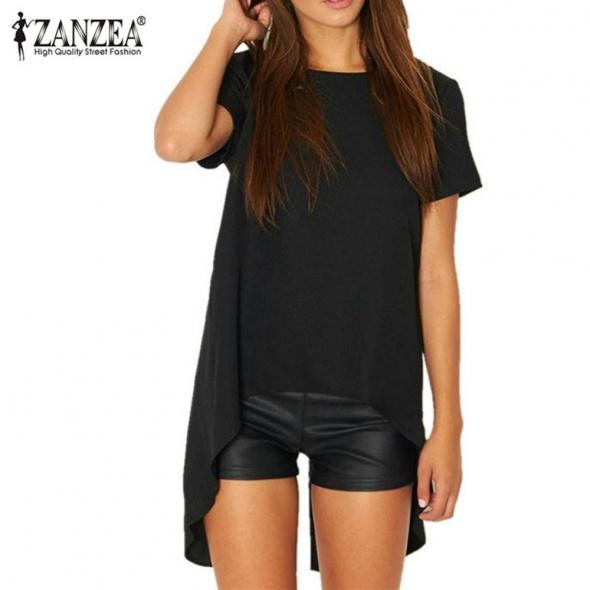 Czarna asymetryczna bluzka