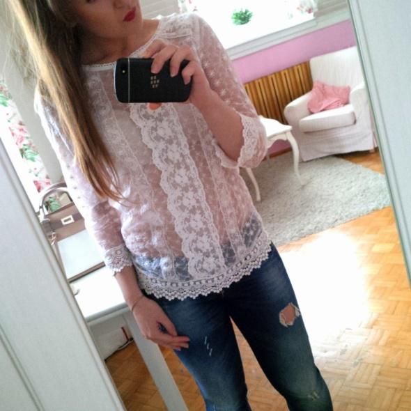 Mój styl Koronka jeans