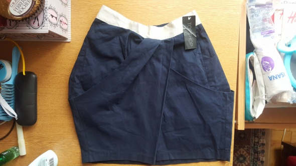 Spódnice Nowa spódnica Top Shop granatowa elegancka