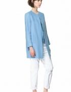 Płaszcz wiosenny ZARA baby blue