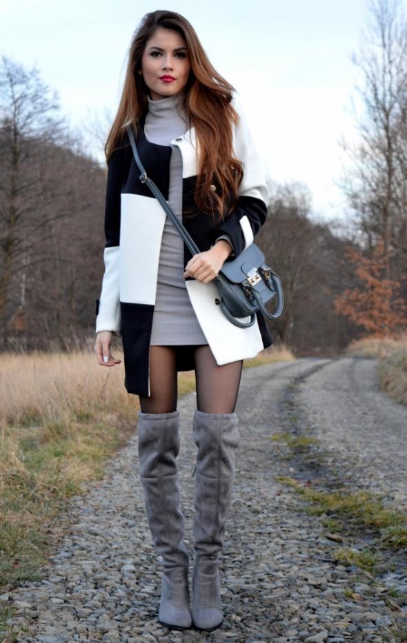Mój styl Biel czerń i szarość