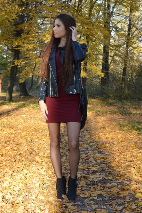 Mój styl wine red dress