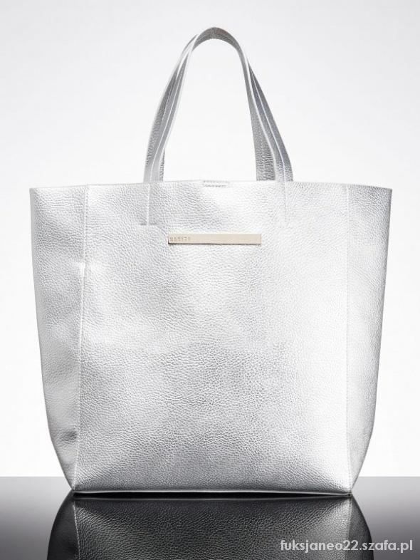 shopper bag torba torebka srebrna złota...