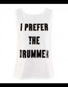 Koszulka I PREFER THE DRUMMER H&M...