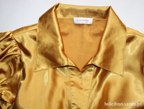Koszula damska ORSAY złota slim fit L 40 blog HIT w Bluzki  itkRM
