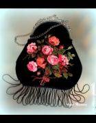 Petit Point różyczki torebusia