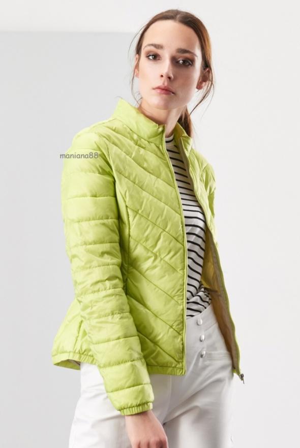 reserved kurtka pikowana limonka