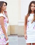 Sukienka Szafomania biała kwiatki