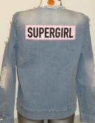 PLNY LALA dżinsowa kurtka Supergirl Jeans Jacket