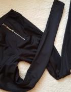 Nowe legginorurki BLACK złote zipy wysoki stan t