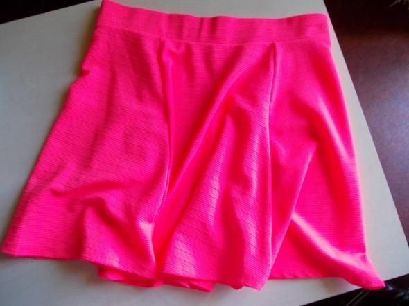 Spódnice H&M spódnica neon pink