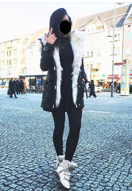 Mój styl parka sneakersy black and white