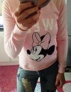 Różowa Bluza Mickey Minnie Disney Słodka...