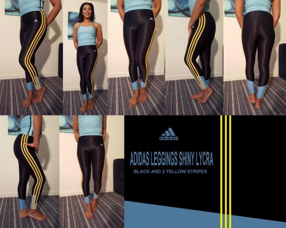 Adidas legginsy z błyszczącej lycry