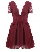 Sukienka bordowa koronkowa