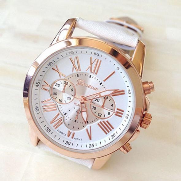 Zegarki Zegarek Beżowy Damski