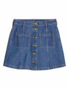 Spódnica trapezowa jeans guziki