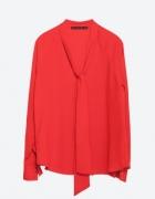Czerwona koszula z wiązaniem Zara rozmiar 34 36