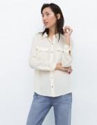 Koszula ecru Zara rozmiar 34 lub 36