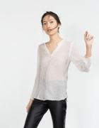 Bluzka plumeti ecru biała ZARA rozmiar 36